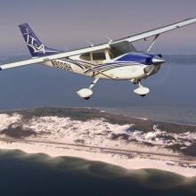 Новогодняя экскурсия над городом на самолёте Cessna 182