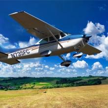 Полет на самолете Cessna 182 над Омском (10 минут)