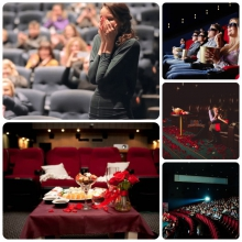 Предложение руки и сердца в VIP зале в кинотеатре